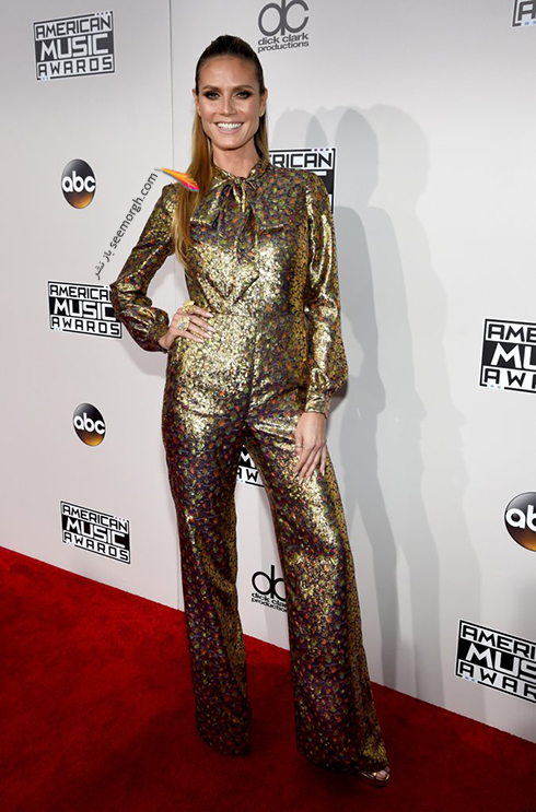 مدل لباس هایدی کلوم Heidi Klum در American Music Awards 2016