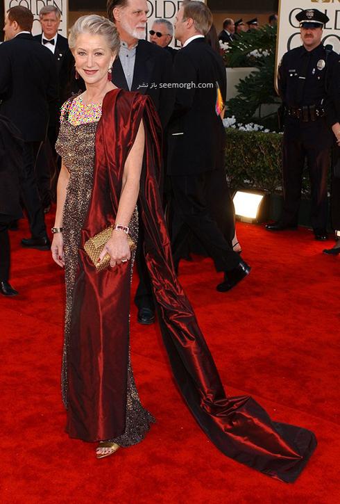 مدل لباس هلن میرن Helen Mirren در گلدن گلوب 2002