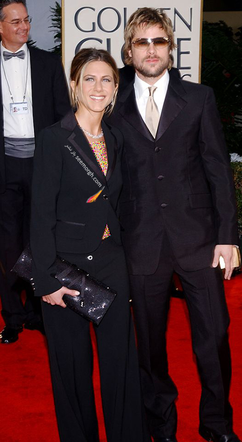 مدل لباس جنیفر آنیستون Jennifer Aniston و برد پیت Brad Pitt در گلدن گلوب 2002