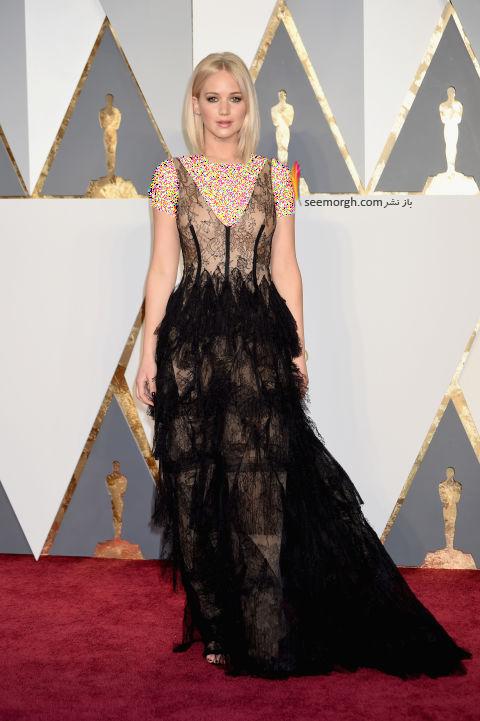 مدل لباس جنیفر لارنس Jennifer Lawrence از برند دیور Dior