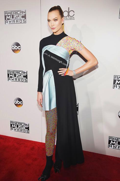 مدل لباس کارلی کلوس Karlie Kloss در American Music Awards 2016