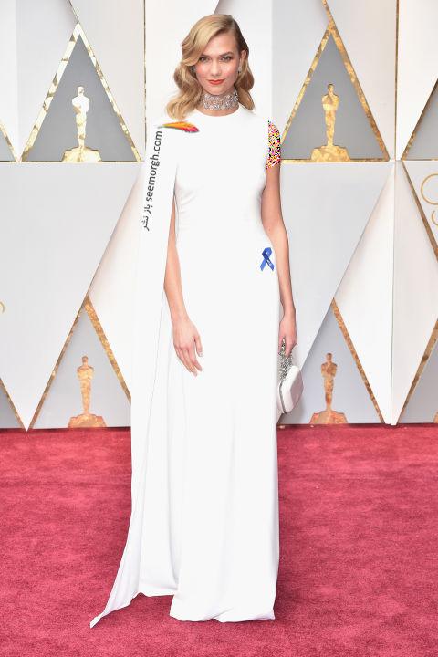 مدل لباس کارلی کلوس Karlie Kloss در مراسم اسکار 2017