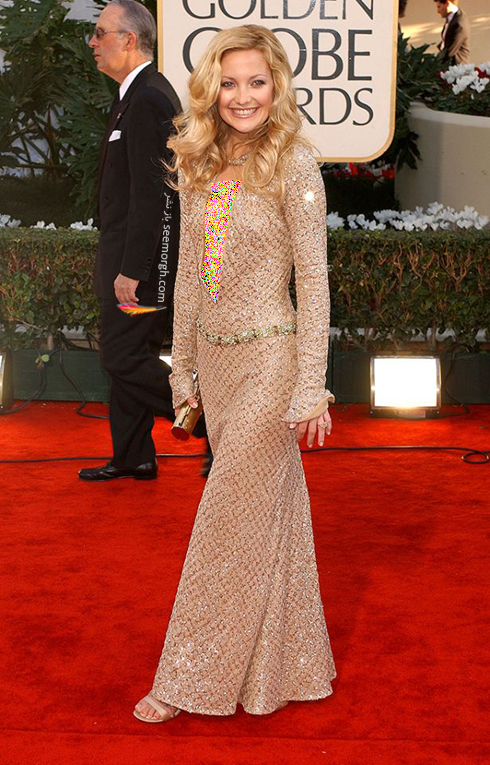 مدل لباس کیت هادسون Kate Hudson در گلدن گلوب 2002