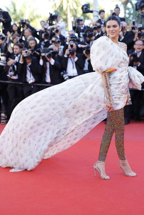 مدل لباس کندال جنر Kendall Jenner در جشنواره کن 2017 Cannes