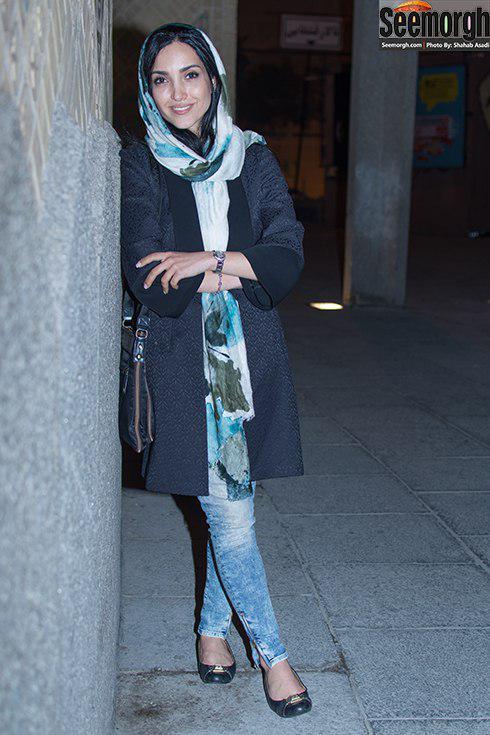 مدل مانتو خاطره اسدی در جشن شب بازیگر