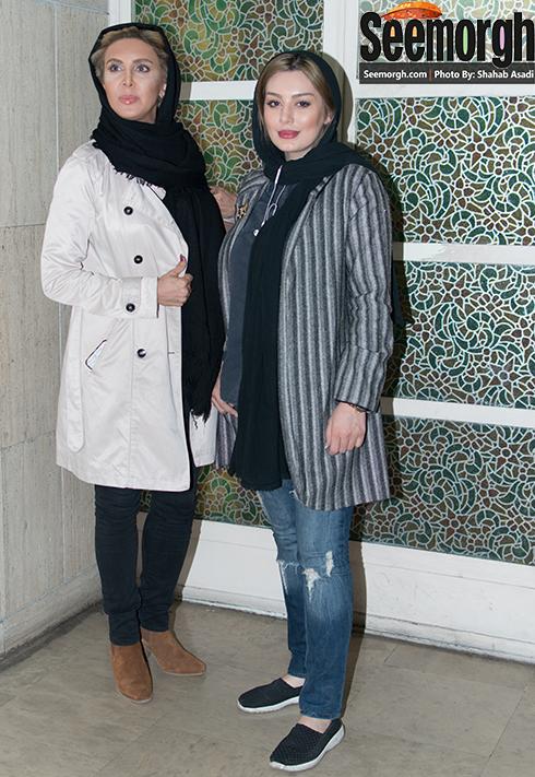 سحر قریشی در کنار لیلا بلوکات در اکران فیلم آس و پاس