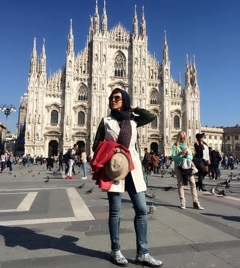 عکس لیلا بلوکات در سفرش به ایتالیا در تعطیلات نوروز
