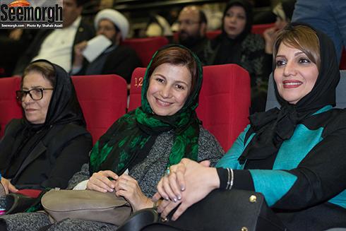 الهام پاوه نژاد در کنار لیلی رشیدی در اکران فیلم نفس در پردیس کوروش