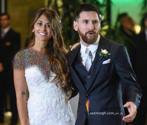 عکس لیونل مسی و همسرش در روز عروسی شان