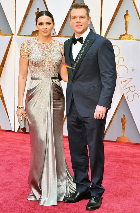 لوسیانا باروسو Luciana Barroso و مت دامون Matt Damon در مراسم اسکار 2017 Oscar
