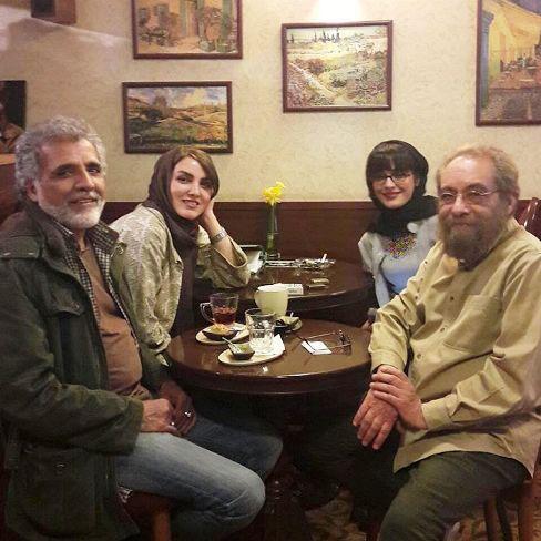 بهروز افخمی و همسرش در کنار مسعود فراستی و همسرش
