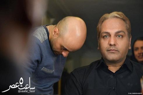 گریم و چهره اروپایی مهران مدیری در فیلم ساعت ۵ عصر