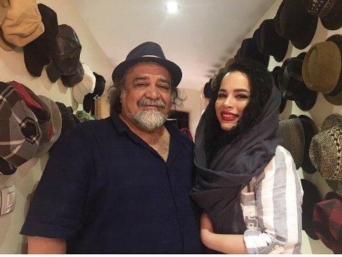 ملیکا شریفی نیا در کنار پدرش محمدرضا شریفی نیا