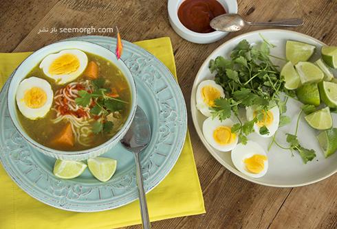 طرز تهیه سوپ مرغ اندونزی