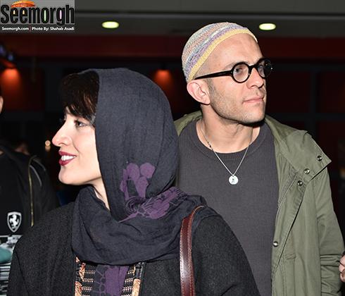 مینا ساداتی و همسرش بابک حمیدیان در اکران فیلم لاک قرمز در پردیس کوروش
