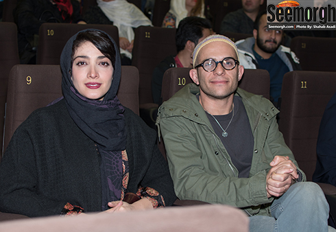 بابک حمیدیان و همسرش مینا ساداتی در اکران فیلم لاک قرمز در پردیس کوروش