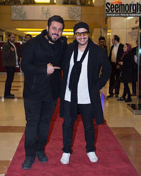 مدل لباس جواد عزتی و محسن کیایی در افتتاحیه جشنواره فجر 35