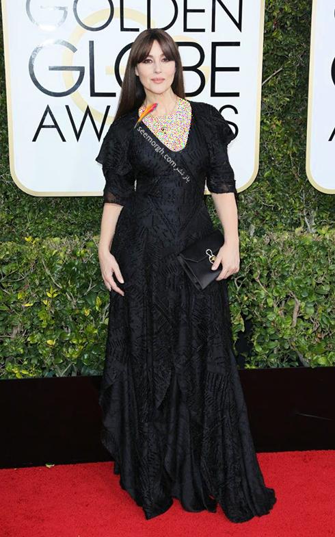 مدل لباس مونیکا بلوچی Monica Belluci در مراسم گلدن گلوب 2017