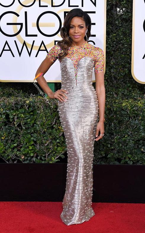 مدل لباس نائومی هریس Naomi Campbell در مراسم گلدن گلوب 2017
