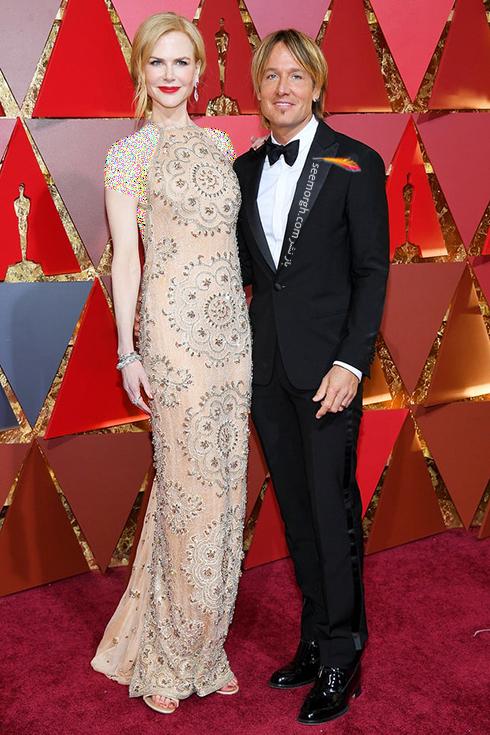 نیکول کیدمن Nicole Kidman و کیث اربن Keith Urban در مراسم اسکار 2017 Oscar