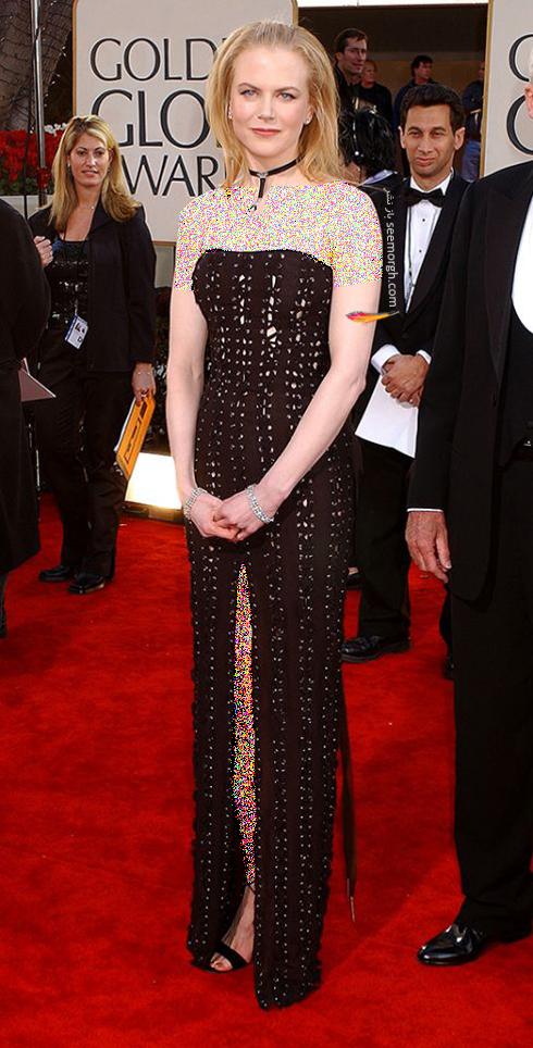 مدل لباس نیکول کیدمن Nicole Kidman در گلدن گلوب 2002