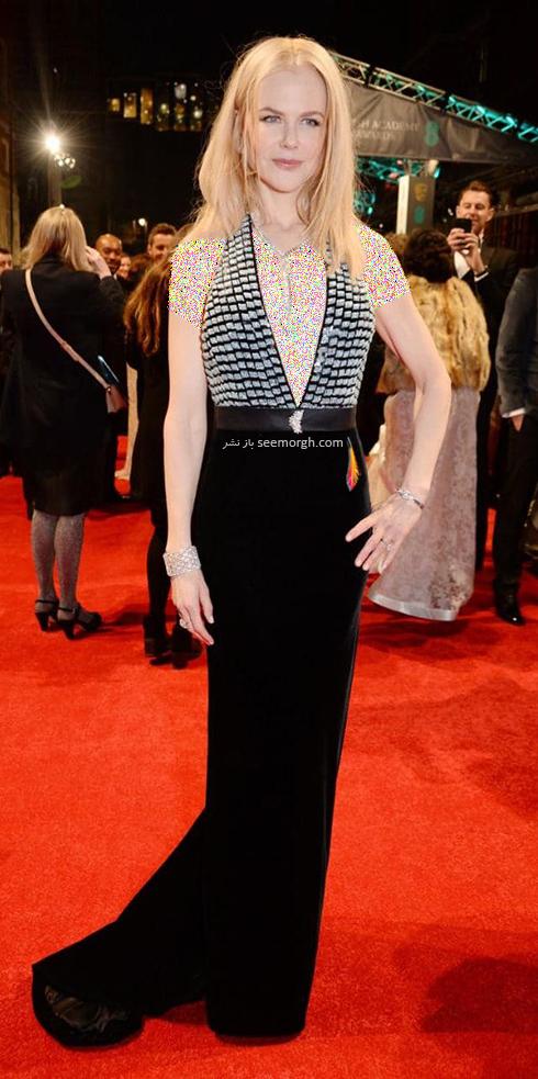مدل لباس نیکول کیدمن Nicole Kidman در بفتا 2017 Bafta