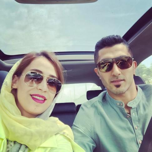 مجتبی میرزاجانپور و همسرش نیلوفر ابراهیمی