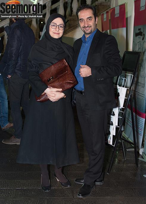 نیما کرمی و همسرش در اکران فیلم یک روز طولانی