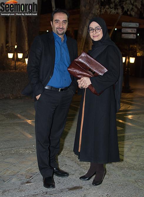 نیما کرمی و همسرش زینب زارع در اکران فیلم یک روز طولانی