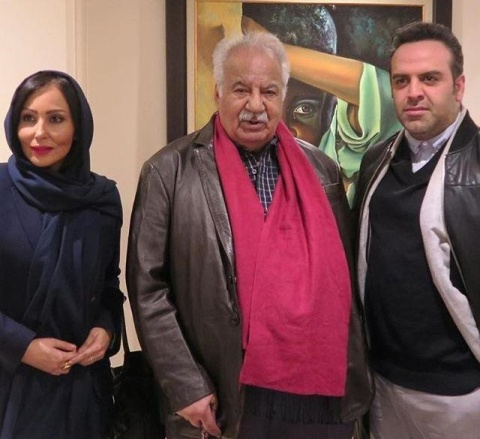 پرستو صالحی در کنار ناصر ملک مطیعی و بهرنگ علوی