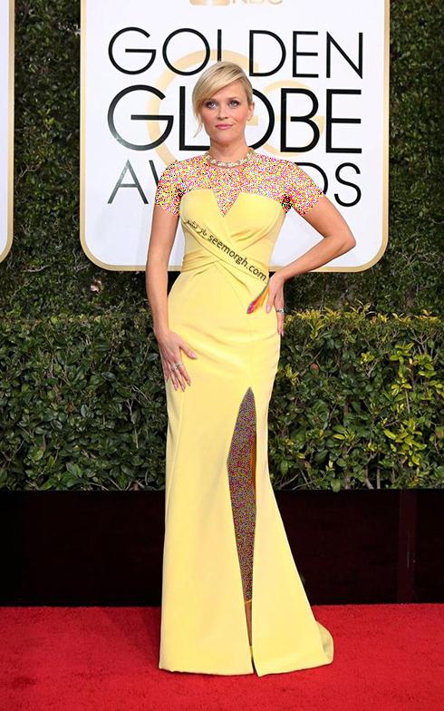 مدل لباس ریس ویترسپون Reese Witherspoon در مراسم گلدن گلوب 2017