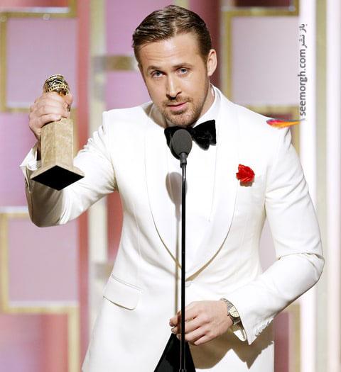 بازیگر نقش اصلی مرد برای فیلم موزیکال - کمدی : رایان گاسلینگ ryan gosling