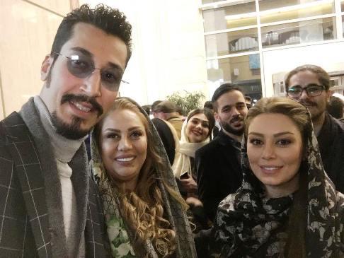 سحر قریشی به همراه مادر و برادرش در جشنواره فیلم فجر