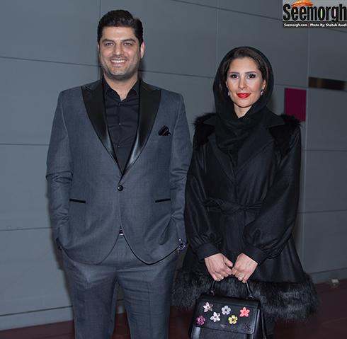 سام درخشانی و همسرش , سام درخشانی در جشنواره فجر 65 , سام درخشانی و همسرش در جشنواره فجر , جدیدترین عکس سام درخشانی و همسرش