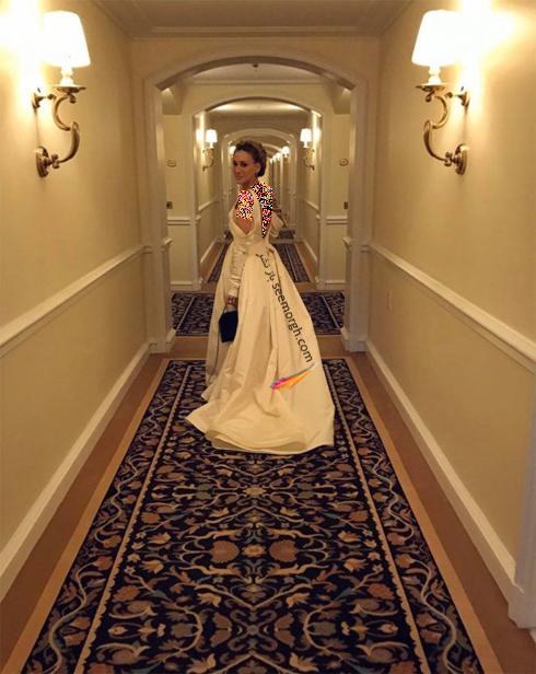 سارا جسیکا پارکر در حال آماده شدن برای مراسم گلدن گلوب 2017 Golden Globe