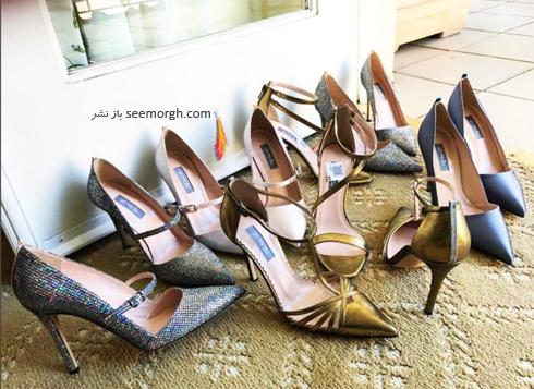 کفش های سارا جسیکا پارکر sara jessica parker برای مراسم گلدن گلوب 2017 Golden Globe