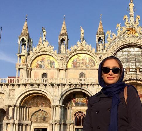 عکس سارا روستاپور (خاله سارا) در ونیز ایتالیا
