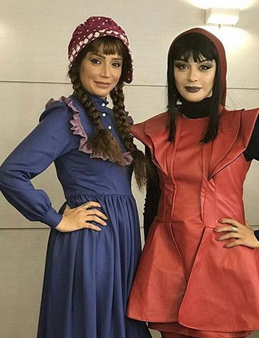 گریم مارال فرجاد و شبنم قلی خانی در نمایش داستان یک عذرخواهی