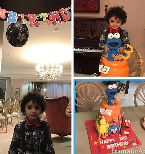 سومین جشن تولد سامیار پسر شیلا خداداد