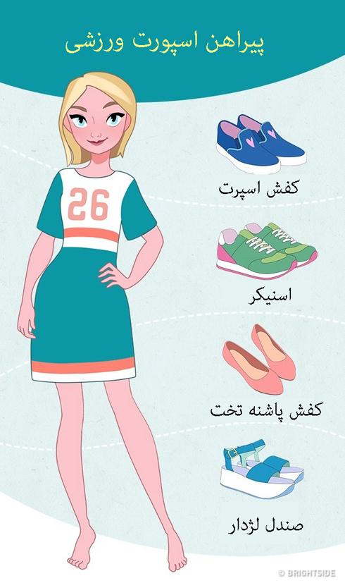 ست کردن کفش با پیراهن اسپورت ورزشی
