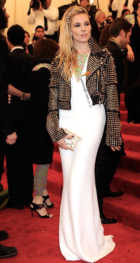 مدل لباس سیه نا میلر Sienna Miller روی فرش قرمز - عکس شماره 1