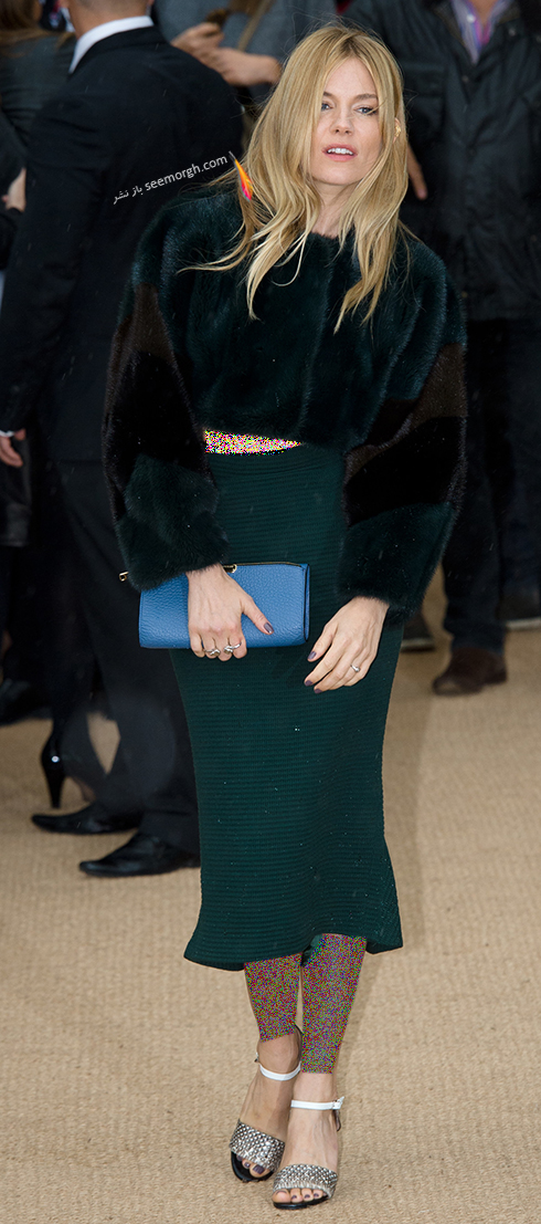 مدل لباس سیه نا میلر Sienna Miller روی فرش قرمز - عکس شماره 7