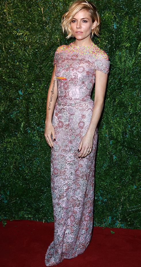 مدل لباس سیه نا میلر Sienna Miller روی فرش قرمز - عکس شماره 5