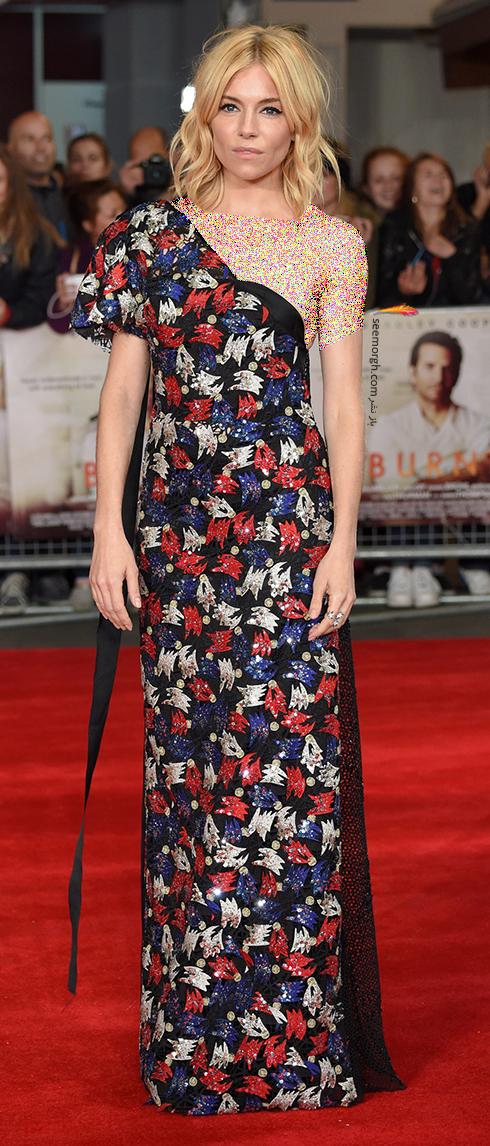 مدل لباس سیه نا میلر Sienna Miller روی فرش قرمز - عکس شماره 4
