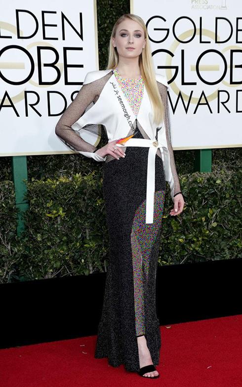 مدل لباس سوفی ترنر Sophie Turner در مراسم گلدن گلوب 2017