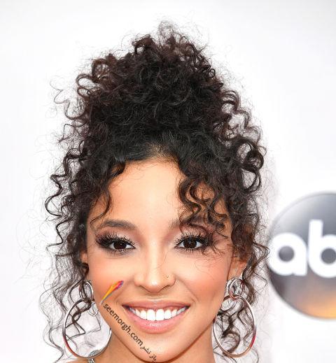 مدل مو فر با رنگ تیره به سبک تیناش Tinashe