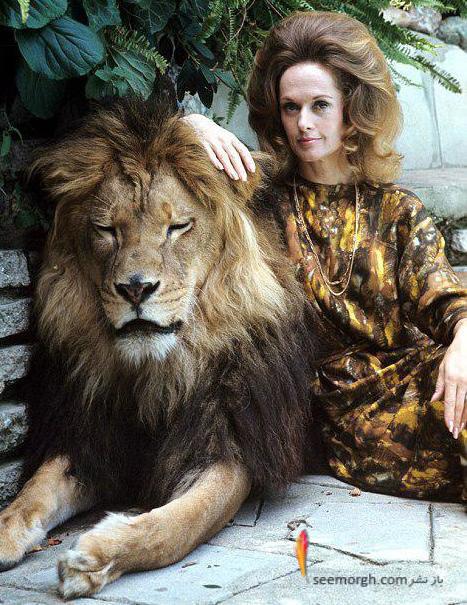 زندگی بازیگر زن زیبای هالیوودی با یک شیر! + عکس های عجیب