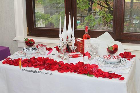 چیدن میز شام رمانتیک برای ولنتاین - ایده شماره 3