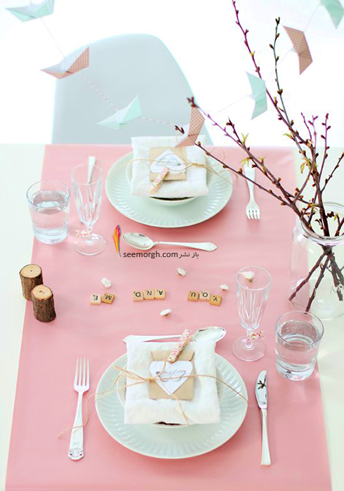 چیدن میز شام رمانتیک برای ولنتاین - ایده شماره 4