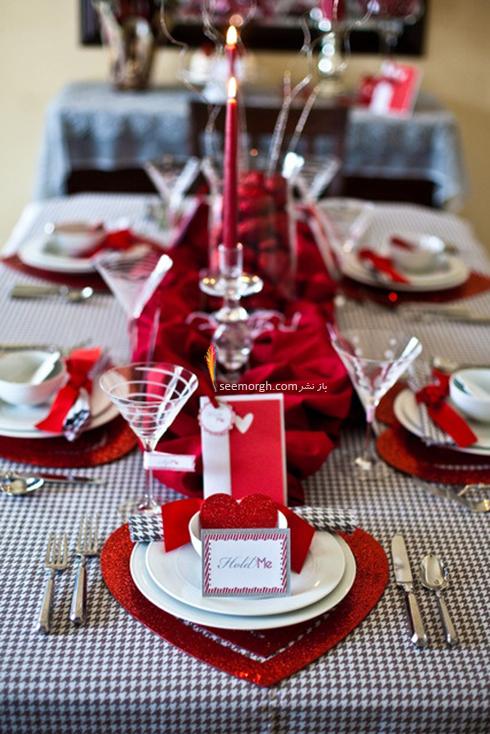 چیدن میز شام رمانتیک برای ولنتاین - ایده شماره 5